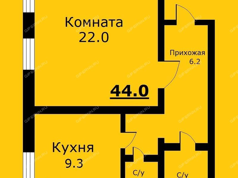 однокомнатная квартира на улице Чкалова дом 5