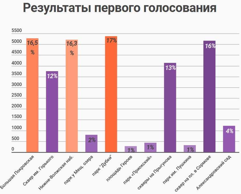 Результаты первого голосования - фото