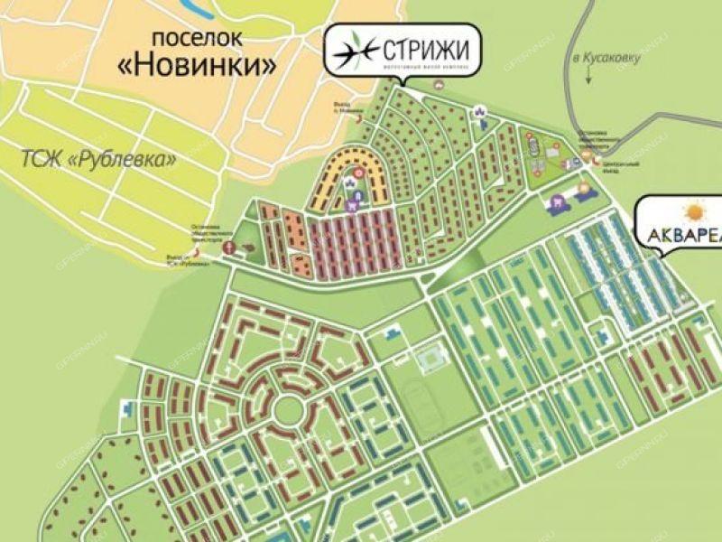 квартира-студия на Инженерный проезд дом 1 к1 посёлок Новинки